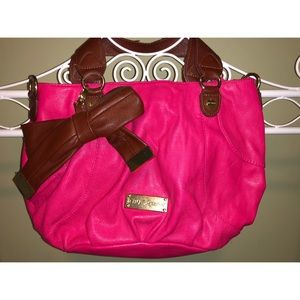 Adorable Bright Pink Betsey Johnson Purse